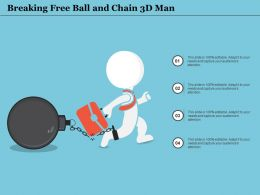 Breaking Free Ball And Chain 3d Man