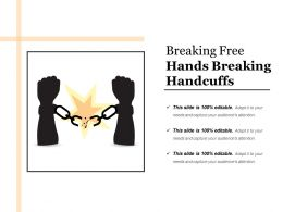 Breaking Free Hands Breaking Handcuffs