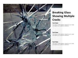 Breaking Glass Showing Multiple Cracks