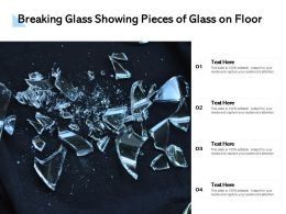 Breaking Glass Showing Pieces Of Glass On Floor