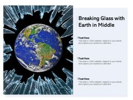 Breaking Glass With Earth In Middle