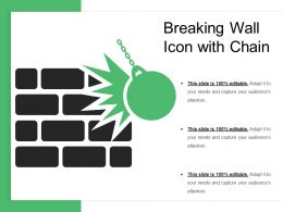 Breaking Wall Icon With Chain