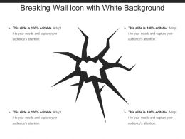 Breaking Wall Icon With White Background