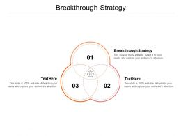 Breakthrough Strategy Ppt Powerpoint Presentation Styles Objects Cpb
