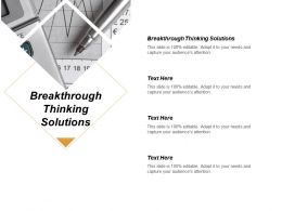 Breakthrough Thinking Solutions Ppt Powerpoint Presentation Infographic Template Graphics Design Cpb