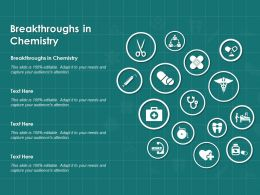 Breakthroughs In Chemistry Ppt Powerpoint Presentation Infographics Model