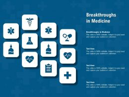 Breakthroughs In Medicine Ppt Powerpoint Presentation Visual Aids Ideas