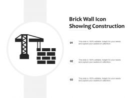 Brick Wall Icon Showing Construction