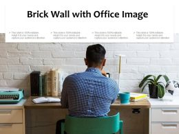 Brick Wall With Office Image
