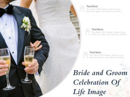 Bride And Groom Celebration Of Life Image