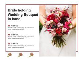 Bride Holding Wedding Bouquet In Hand