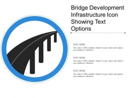 Bridge Development Infrastructure Icon Showing Text Options