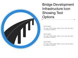 Bridge Development Infrastructure Icon Showing Text Options