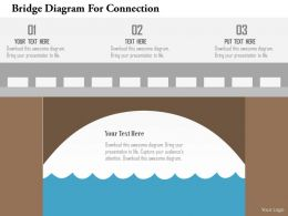 Bridge Diagram For Connection Flat Powerpoint Design