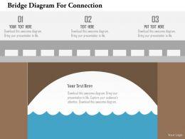 Bridge Diagram For Connection Flat Powerpoint Design