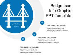 Bridge Icon Info Graphic Ppt Template