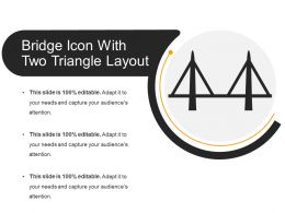 Bridge Icon With Two Triangle Layout