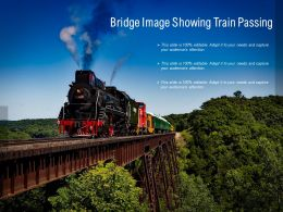 Bridge Image Showing Train Passing