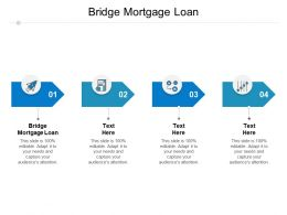 Bridge Mortgage Loan Ppt Powerpoint Presentation Show Background Cpb