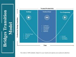 Bridges Transition Model Ppt Infographic Template Mockup