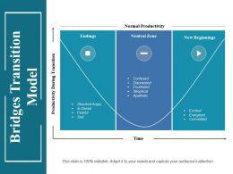 Bridges Transition Model Ppt Infographic Template Mockup