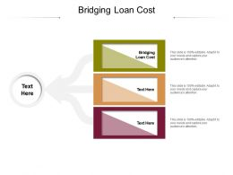 Bridging Loan Cost Ppt Powerpoint Presentation Model Structure Cpb