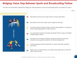 Bridging Value Gap Between Sports And Broadcasting Partner Reduced Rates Ppt Graphics