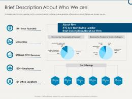 Brief Description About Who We Are Building Sustainable Working Environment Ppt Themes
