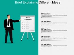 Brief Explaining Different Ideas