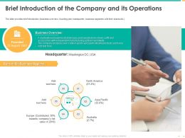 Brief Introduction Of The Company And Its Operations Lifestyle Ppt Shows