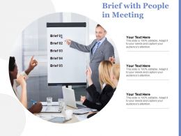 Brief With People In Meeting