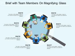 Brief With Team Members On Magnifying Glass