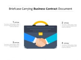 Briefcase Carrying Business Contract Document