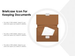 Briefcase Icon For Keeping Documents
