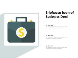 Briefcase Icon Of Business Deal