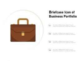 Briefcase Icon Of Business Portfolio