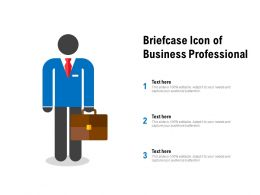 Briefcase Icon Of Business Professional