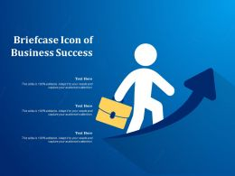 Briefcase Icon Of Business Success