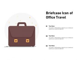 Briefcase Icon Of Office Travel