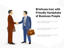 Briefcase Icon With Friendly Handshake Of Business People