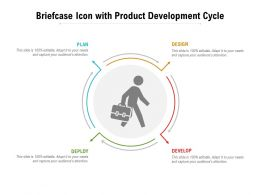 Briefcase Icon With Product Development Cycle