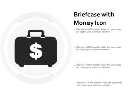 Briefcase With Money Icon