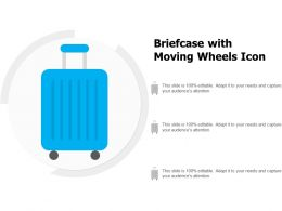 Briefcase With Moving Wheels Icon