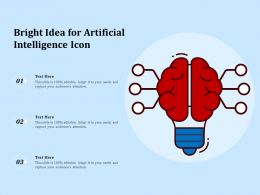 Bright Idea For Artificial Intelligence Icon