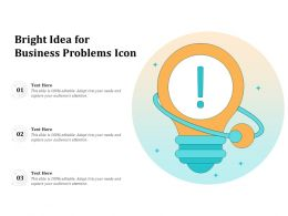 Bright Idea For Business Problems Icon