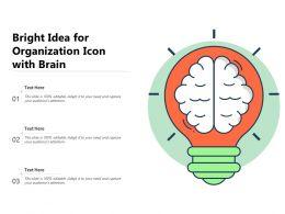 Bright Idea For Organization Icon With Brain