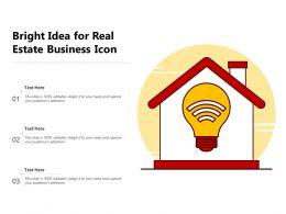 Bright Idea For Real Estate Business Icon