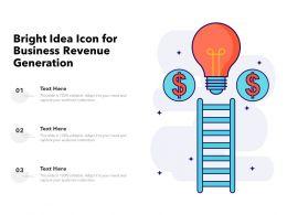 Bright Idea Icon For Business Revenue Generation