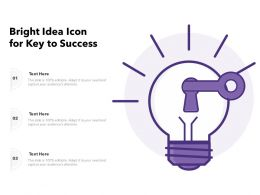Bright Idea Icon For Key To Success
