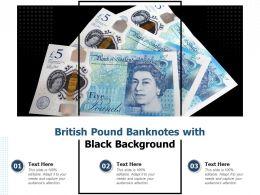 British Pound Banknotes With Black Background